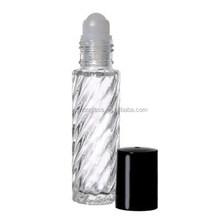 Glass Roll On Bottles Lot Top Cap Refillable Empty Perfume Oil 1/3 OZ 10 ML