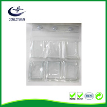 Fully Transparent PVC Door Wall Multilayer Storage Hanging Bags Shoe Hanging tools Bags