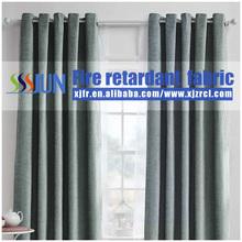 Supply JUN brand permanent flame retardant hotel curtain (flame retardant B1 level),fireproof curtain