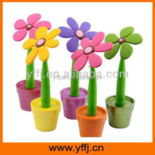 advertising plastic ball pen gifts by flower plant design