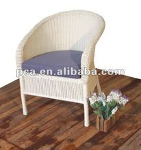 2012 white round rattan chair with cushion for sale