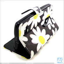 Luxury Painting PU Leather + Soft TPU Wallet Case With Stand for LG Leon H340N