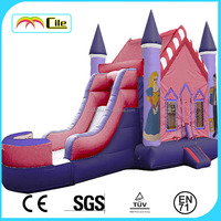CILE Exciting Inflatable Cabin Castle with Dry Slide for Park Facility