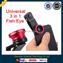 Universal 180 degree Detachable Clip Fish Eye Lens Clip for Universal Smart Phone