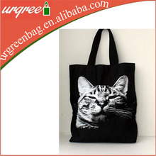 Sleeping Cat Big Size Canvas Tote Bag