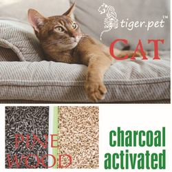 factory supply activated carbon pure pine wood cat litter cat sand clean