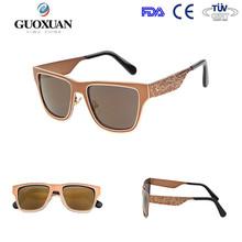 2015 retro half-frame sunglasses with acrylic lense and metal hinge