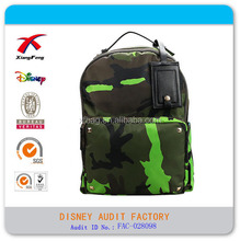 camouflage outer hiking backpack rivet decoration personality backpack