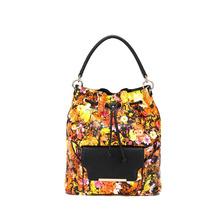Wholesale 2015 Fashion PU Leather Women Drawstring Handbag With Flower Printing,made in Guangzhou China,Cheap Price