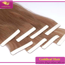 Cheap brazilian human tape hair 100% virgin remy hair tape in hair extentions wholesale