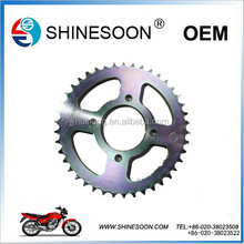 Professional factory for 45# steel motorcycle sprockets with cheap prices