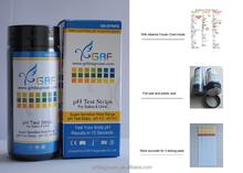 Diagnostic acid and alkaline pH strip test 4.5-9.0