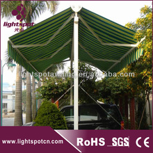 Car parking large automatic aluminum swing awning,commercial garden popular double side aluminum swing awning