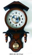 Customized hotsell modern stylish modern minimalist fashion glass lens pendulum wooden wall clock