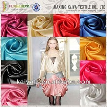 Best quality cheap colorful satin silk fabric for dresses