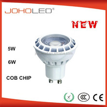 Aluminum body +PMMA lens lamp cob led light source spotlight gu10 dimmable