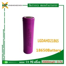 High discharge rate LGDAHD21865 2000mah batteries for LG 18650