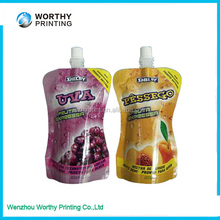 Hot And Popular Plastic Stand Up Bags With Spout