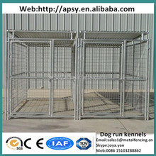 Popular 10'x10'x6' dog run kennels with roofs 2 sections round tube welded pets wire cages strong animals breeding fence panels