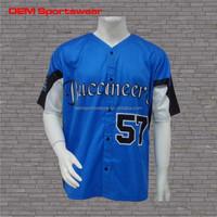 Polyester custom printing oem short sleeve baseball jersey