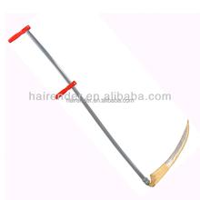 long steel handel scythe and snath