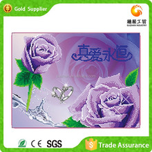 Purple Flower Picture Bedroom Wall Decor Mosaic 3d Diy Diamond Canvas Painting