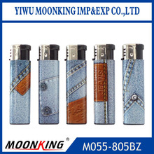 plastic material and cigarette usage lighters with jeans pictures