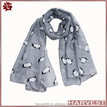 2014 new stylish cute penguin scarf viscose for children