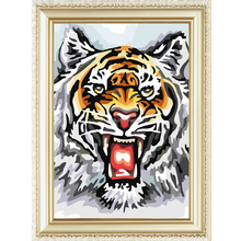 2015 Hot animal oil painting of tiger diy paint by numbers on canvas