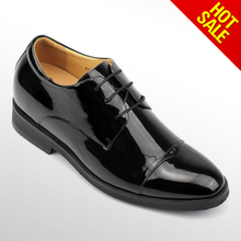 Guangzhou factory made high quality latest dress design black leather shoes/christian loubotin shoe