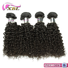 2015 100% Virgin Human Raw Unprocesse Cheap Curly Human Hair Weft