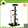 high big cat perching tree with sisal rope post, durable high cat perching tree