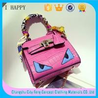 2015 Hot Selling Handbags Ladies Exported PU Handbag Colorful Tote bag