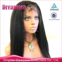 aaaaa grade kinky straight coarse yaki full lace silk base brazilian wig