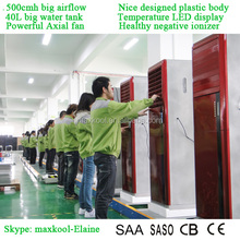 2015 New The most popular portable air conditioner and water air cooler with home plastic low noise CE CB CCC