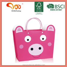 Factory latest design wholesae oem plastic handle animal printing wrapping paper