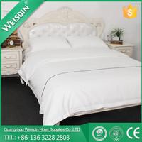 WEISDIN embroidered Guangzhou manufacturer wholesale hotel bed set/linen/sheet/pillow/comforter