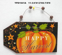 Star Pumpkin Happy Harvest Decoration Metal Wall Hanging Plaque Distressed