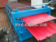 Corrugated and Trapezoidal double sheet roll forming machine