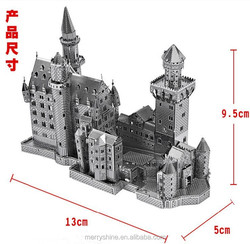 Star Wars DI02-20 Educational Toys New Swan Stone Castle 3D Puzzle Metal Magnetic 3d jigsaw puzzles for adults and Children
