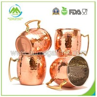 16oz/18oz Coppertisan Barrel Hammered Copper Moscow Mule Mug/Copper Mug