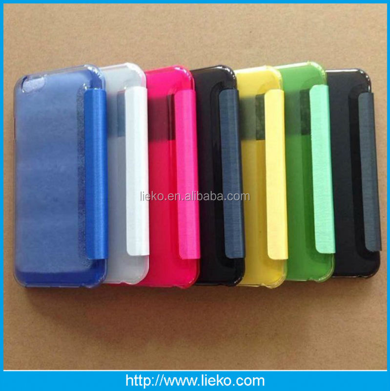 New design clear back cover leather case for Iphone 6/6s