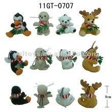 Nice 4 X-Mas Animal with Scarf : Penguin, seal, bear, moose ,