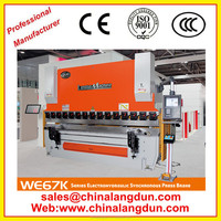 cnc hydraulic steel sheet bender iron plate press brake for sale CE standard hot sale NC plate bending machine