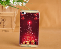 Christmas design color painting PC mobile phone case for iphone 4/4s CO-PC-3013