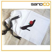 embroidery Shoe bag , designer drawstring dance shoe bag