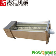 Commercial brush potato/carrot washing and peeling machine/fruit washer
