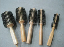 Wooden hair brushes mixed with boar bristles