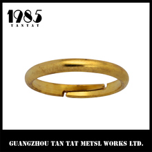 Painted Gold Napkin Ring Brass / Simple O- Ring For Napkin Wholesale
