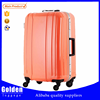 2015 new trendy women luggage trolley bag ABS cheap hard luggage travel bags